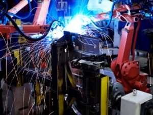 ABB robots welding production