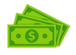 Image of green dollar bills
